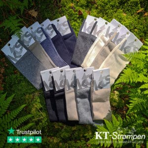 15 par ensfarvede kvalitetsstrømper til mænd - Spar over 50%